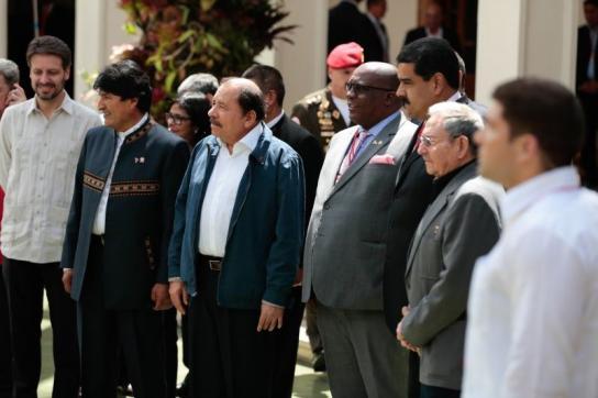 Staats- und Regierungschefs von ALBA-Staaten beim Gipfeltreffen in Venezuela