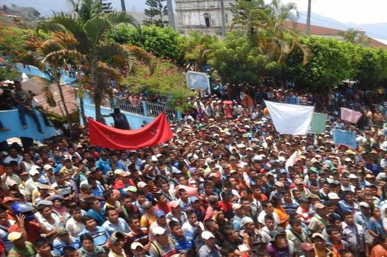 Proteste in der Region Cahabón, Guatemala