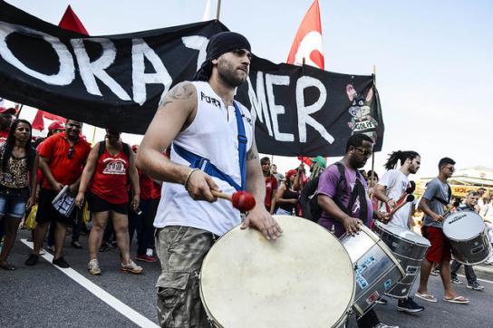 Protest gegen Die Temer-Führung in Brasilien, hier im August 2016
