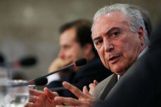 Im Auf und Ab: De-facto-Präsident von Brasilien, Michel Temer