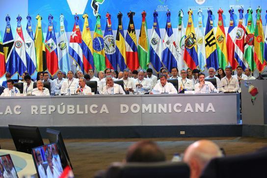 Ecuadors Präsident Rafael Correa bei seiner Ansprache
