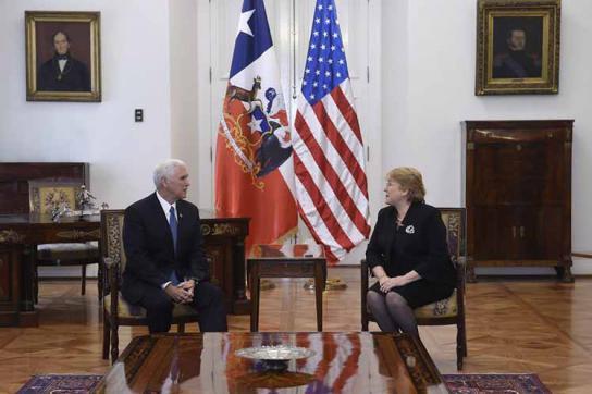 Lateinamerika-Reise Pence Bachelet