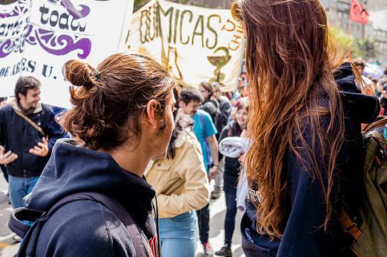 Proteste für bessere Bildung in Chile, hier im Oktober 2014