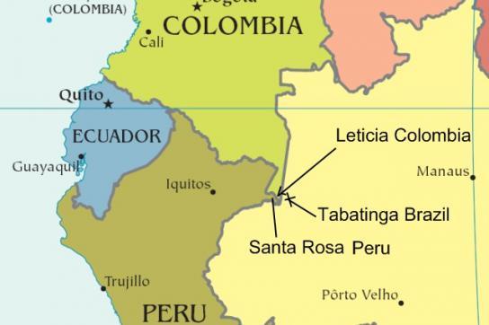 In Tabatinga im Amazonasgebiet von Brasilien wird eine multinationale Militärbas