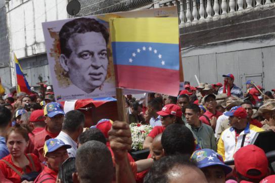 Ehrung des früheren Guerilla-Kommandanten Fabricio Ojeda in Venezuela