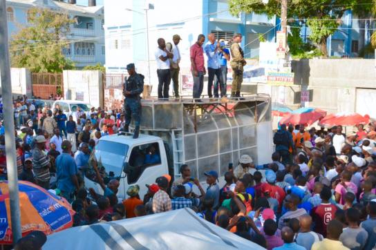 Jovenel Moise beim Wahlkampf in Haiti