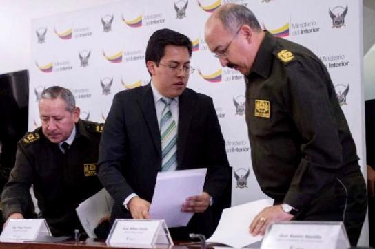 Innenminister Diego Fuentes über den Rückgang der Gewaltverbrechen in Ecuador