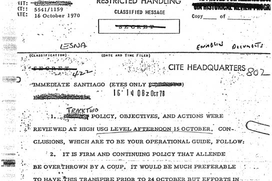 Geheimdokument der CIA