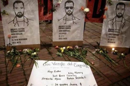 Opfer paramilitärischer Gewalt in Kolumbien – die Morde gehen weiter