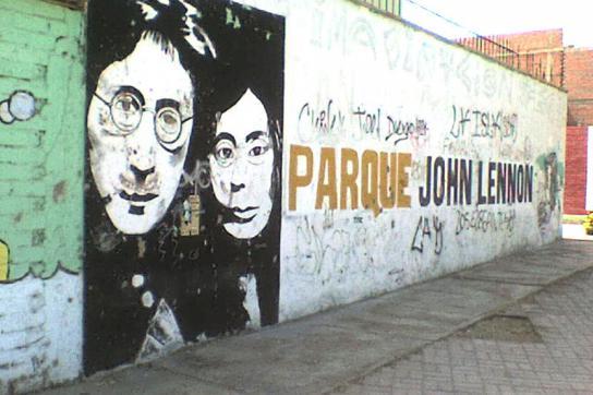 Wandbild im John-Lennon-Park in Havanna, Kuba
