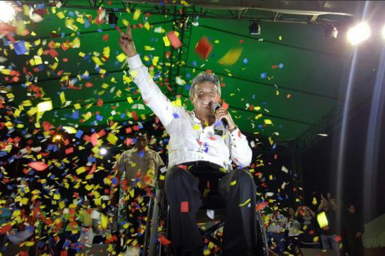 Wahlsieger Lenín Moreno, der neue Präsident von Ecuador