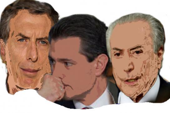 Mauricio Macri, Enrique Peña Nieto, Michel Temer
