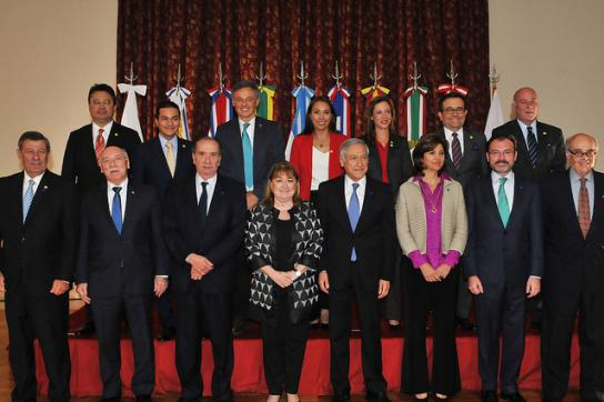 Minister aus dem Staaten von Mercosur und Pazifik-Allianz