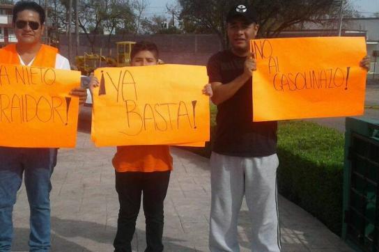 """Proteste in Mexiko gegen die als """"Gasolinazo"""" bezeichnete Preissteigerung"""