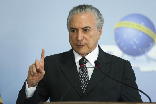 Brasilien: Michel Temer verspricht Verbesserung der Lage