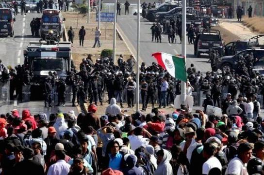 In Valle del Mezquital, Mexiko, wurden zwei Demonstranten erschossen