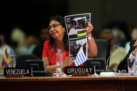 Außenministerin von Venezuela, Delcy Rodríguez, bei der OAS
