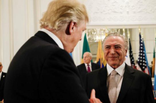US-Präsident Trump und Brasiliens De-facto-Präsidenten Temer