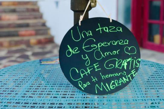 Willkommen Kaffee  für Migranten