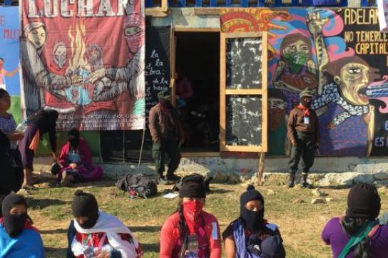 Teilnehmerinnen auf dem ersten Treffen für Frauen bei den Zapatistas