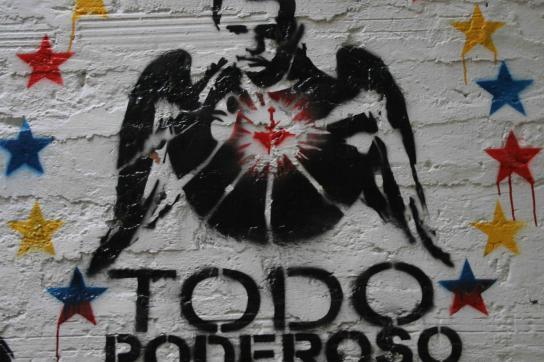 """Graffito Uribe als """"todo poderoso"""""""