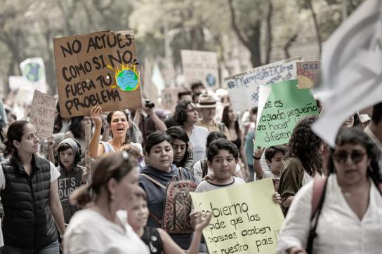 Demonstranten für aktivere Klimapolitik
