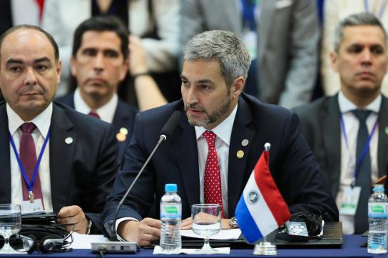 Bild Präsident Mario Abdo Benítez
