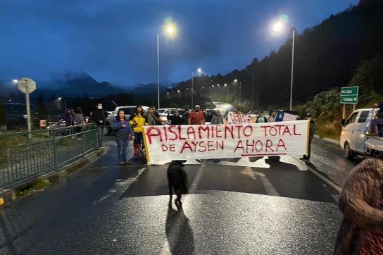 Strasseblockade in Aysén