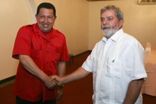 Lula da Silva geht auf Chávez zu