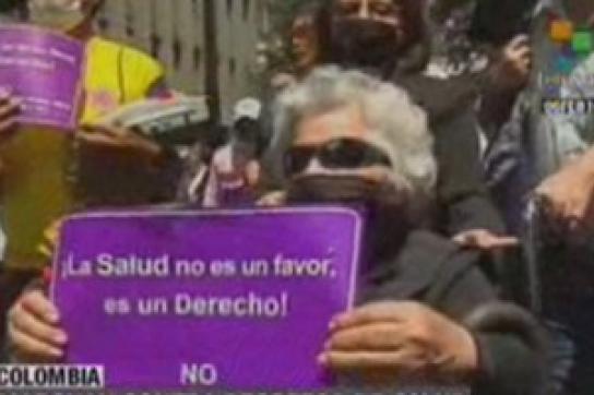 Proteste gegen Gesundheitsreform in Kolumbien