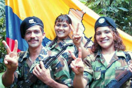 Delegation der FARC-Guerilla in Venezuela